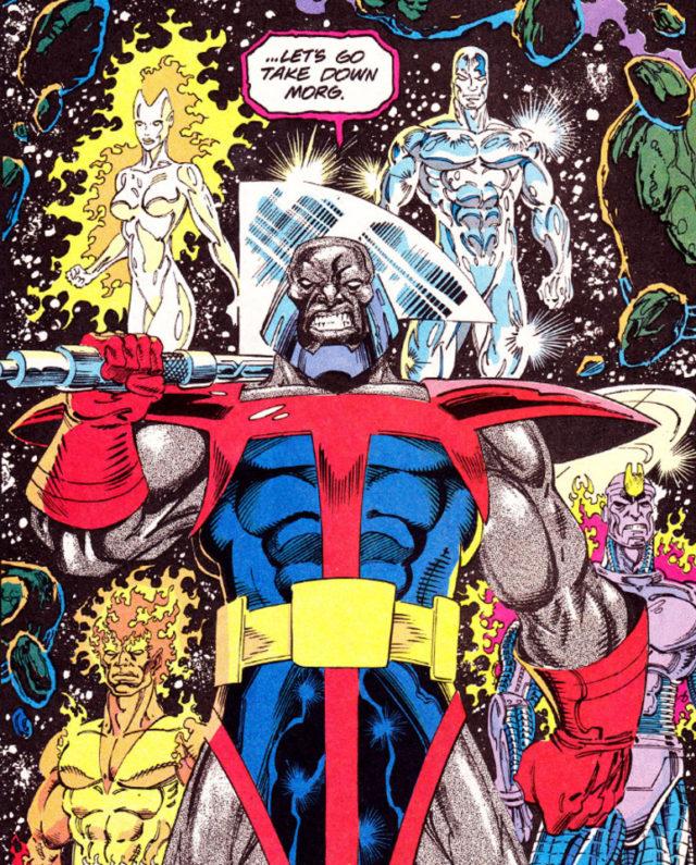Heralds of Galactus Terrax Nova Air Walker Firelord Silver Surfer Comic Book Art Page