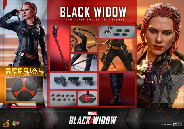 Hot Toys Black Widow Special Edition Figure and Accessories Sideshow Exclusive