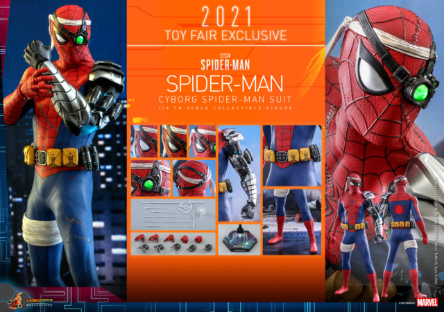 Hot Toys Cyborg Spider-Man Figure and Accessories Summer Toy Fair Exclusive 2021