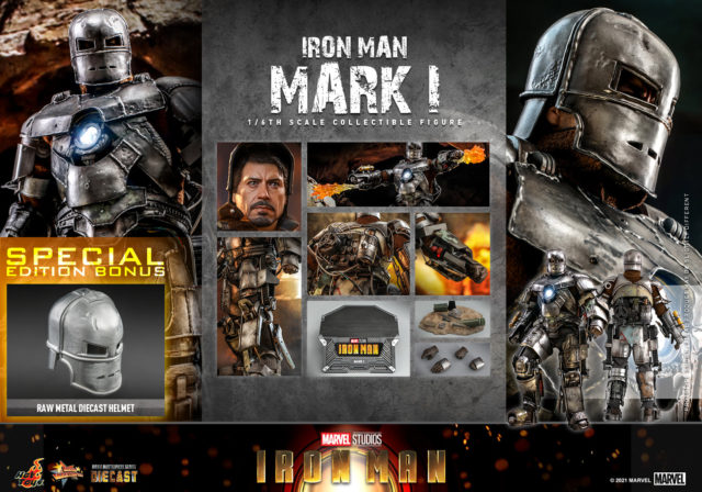 Hot Toys Iron Man Mark 1 Die-Cast Figure and Accessories