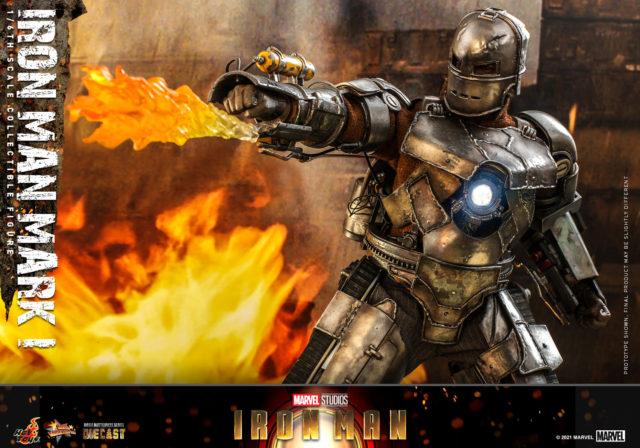 Hot Toys Iron Man Mark I Die Cast Figure Flamethrower Effects Piece