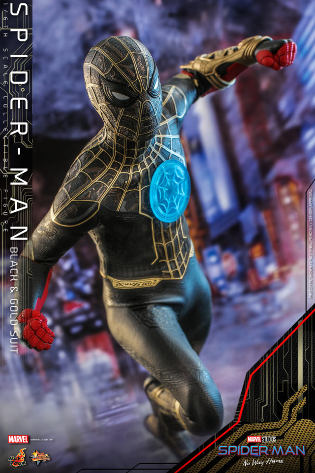 Hot Toys No Way Home Spider-Man Black and Gold Costume