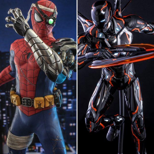 Hot Toys Summer 2021 Exclusives Cyborg Spider-Man Neon Tech Iron Man 4.0