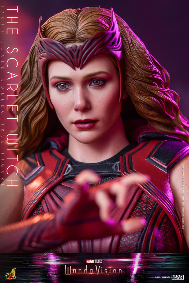Hot Toys WandaVision Scarlet Witch Head New Portrait Close-Up