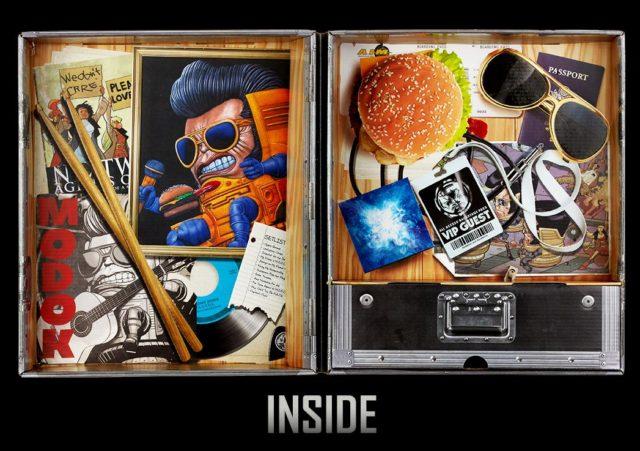 Inside of Box for Marvel Legends MODOK World Domination Tour Set Exclusive