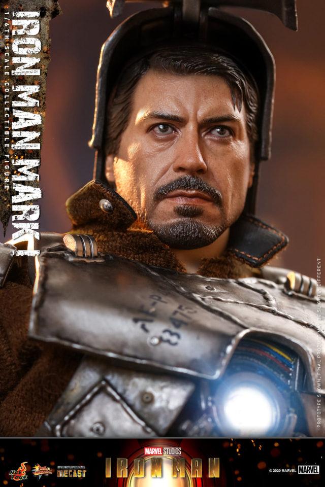 Iron Man Mark I Hot Toys Die Cast Tony Stark RDJ Portrait