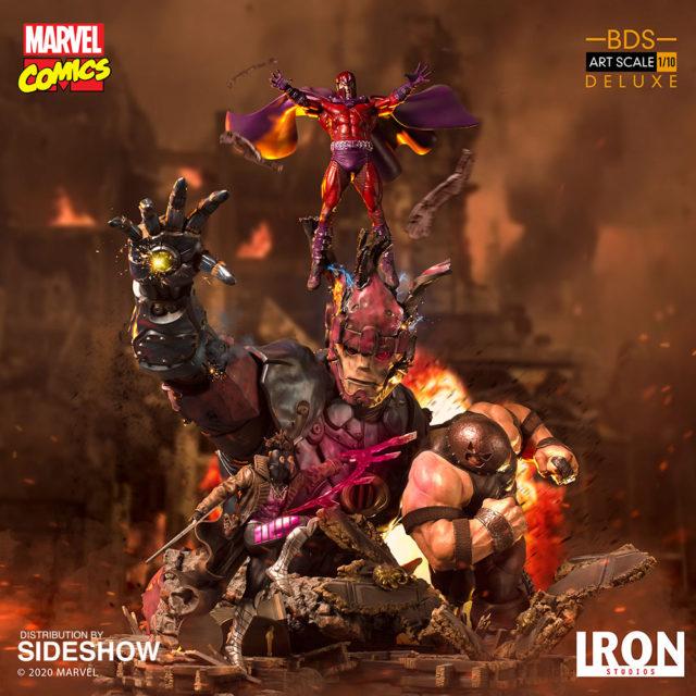 Iron Studios Sentinel 2 Statue Diorama Magneto Gambit Juggernaut