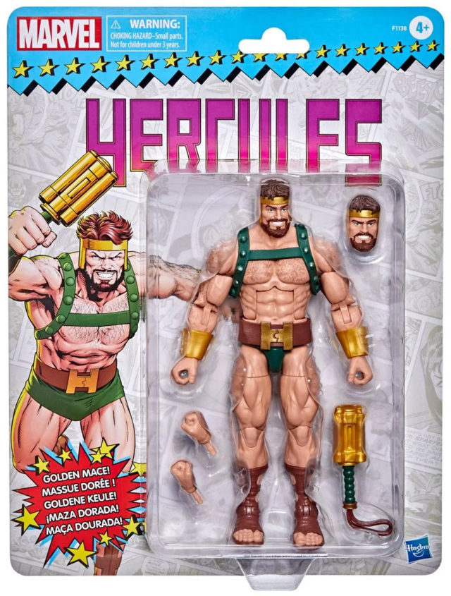 Marvel Legends 2021 Retro Hercules Six Inch Figure Carded