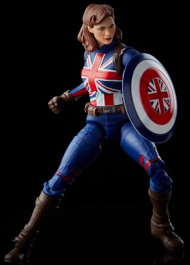 Marvel Legends Captain Peggy Carter with Shield Figure What if Hasbro