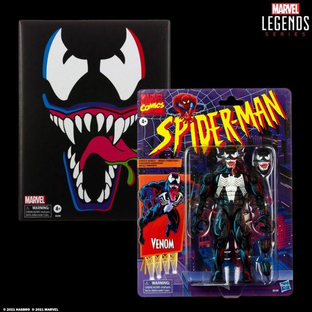 Marvel Legends Spider-Man Retro Series Venom Exclusive Figure Packaged