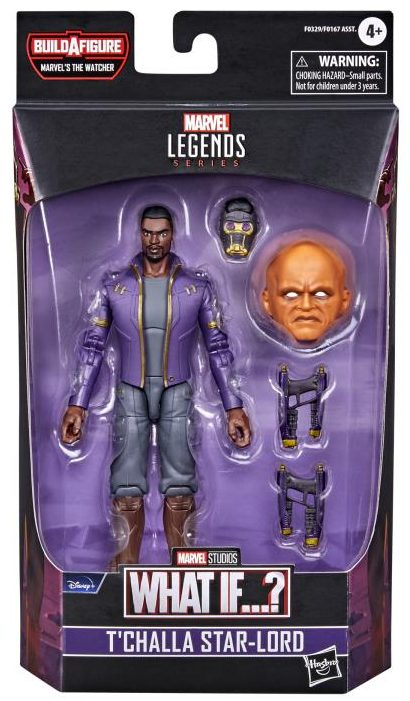 Marvel Legends T'Challa Star-Lord Figure Packaged with Watcher Head