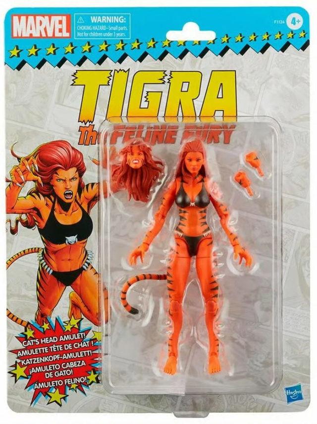Marvel Legends Tigra Figure Packaged Retro Series