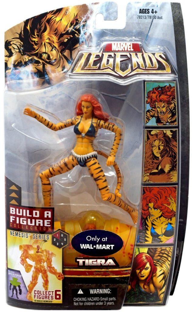 Marvel Legends Tigra Walmart Exclusive Nemesis Series Figure Packaged
