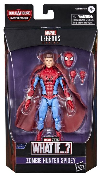 Marvel Legends What If Zombie Hunter Spider-Man Figure Packaged