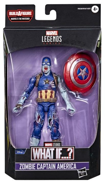 Marvel Legends Zombie Captain America What If Figure in Box