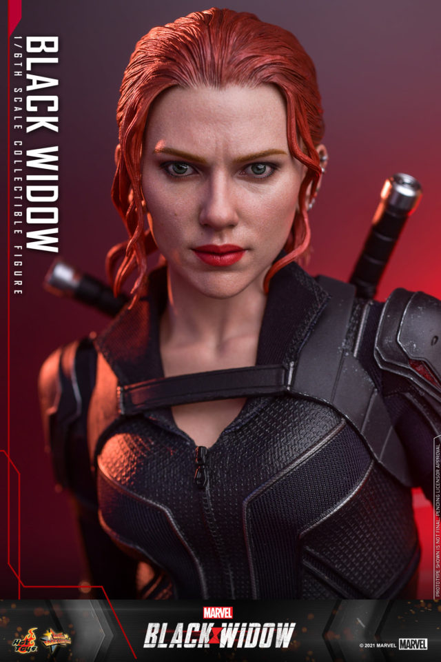 Scarlett Johansson Black Widow Portrait Head Sculpt Hot Toys 2021