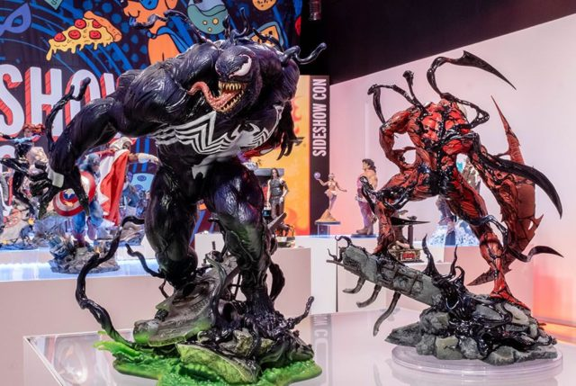 Sideshow Con 2021 Venom and Carnage Statues