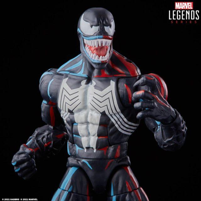 Spider-Man Retro Marvel Legends Venom Figure Close-Up Animated Vintage