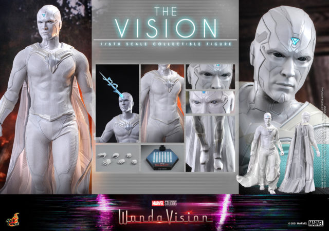 White Vision Hot Toys WandaVision One Sixth Figure and Accessories