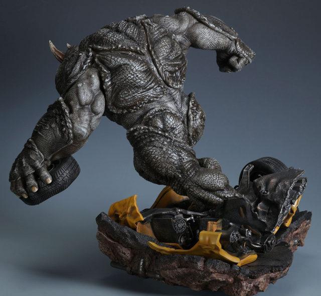 XM Studios Marvel Rhino Statue Running Forward Back