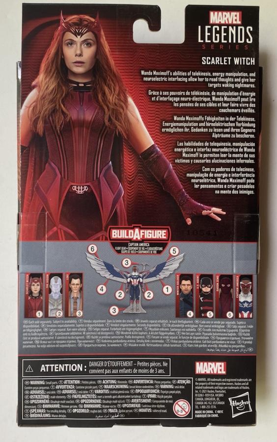 Box Back Disney+ Marvel Legends Scarlet Witch Packaging