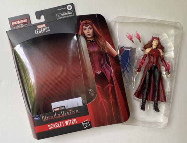 "Unboxing Scarlet Witch WandaVision Legends 6"" Figure 2021 Hasbro"