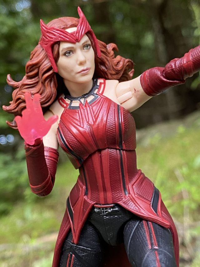 Close-Up of WandaVision Legends Scarlet Witch Figure