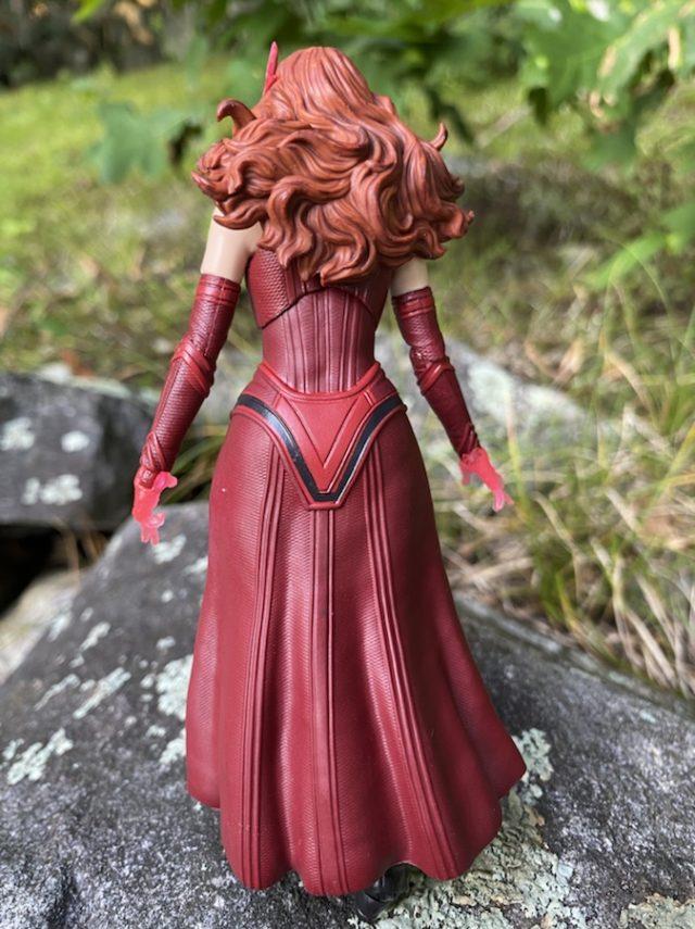 Back of Wandavision Marvel Legends Scarlet Witch Figure