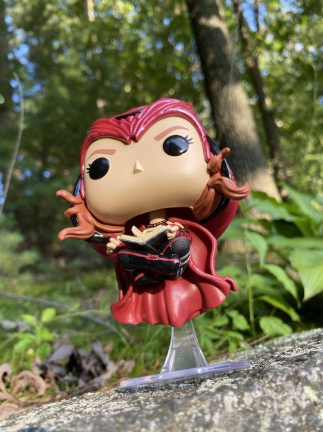 Floating Scarlet Witch Funko POP Wanda with Darkhold Review