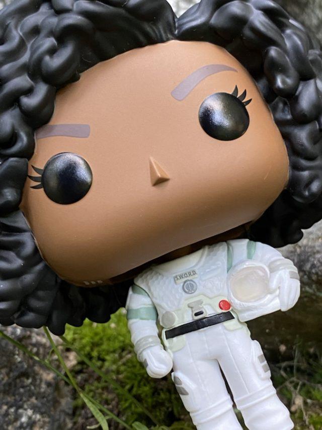 Close-Up of WandaVision Monica POP Vinyl Figure Head