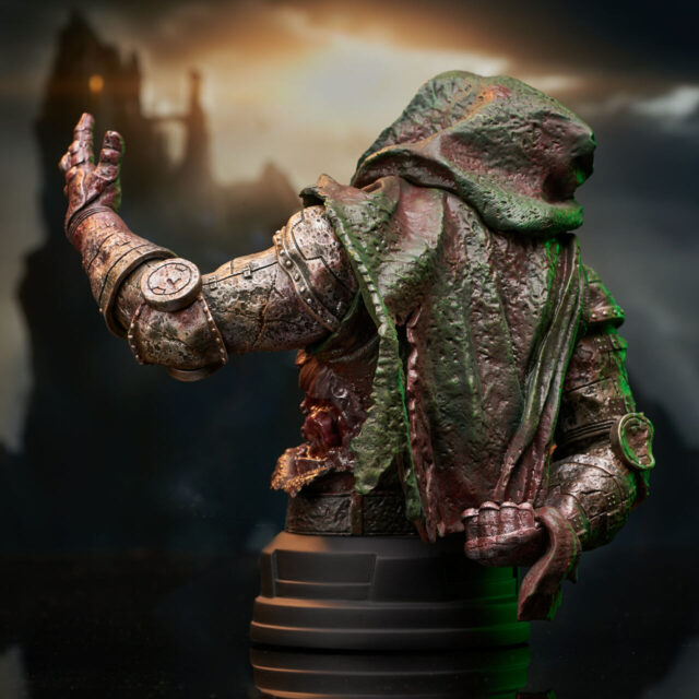 Back of 2021 NYCC Zombie Doom Mini Bust