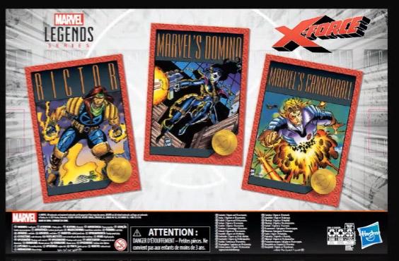 Box Back X-Force Marvel Legends 3-Pack
