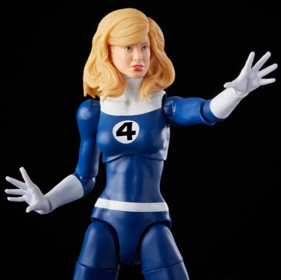 Close-Up of Invisible Woman Marvel Legends Retro Fantastic 4 Figure Head Sculpt