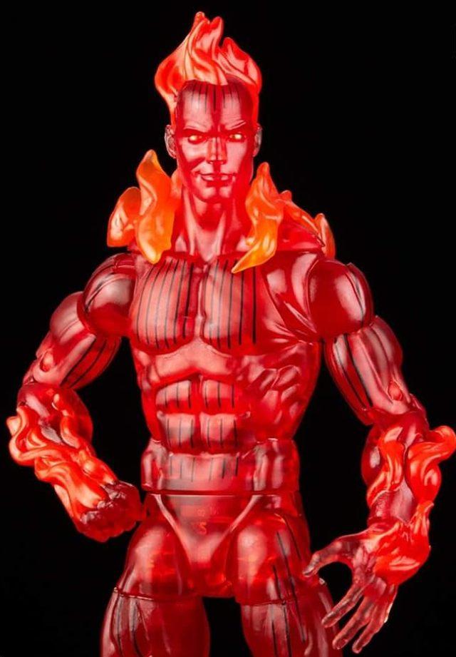 Close-Up of Marvel Legends 2021 Human Torch Retro Figure