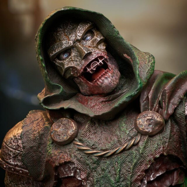 Close-Up of Zombie Doom Mini Bust New York Comic Con 2021 Exclusive