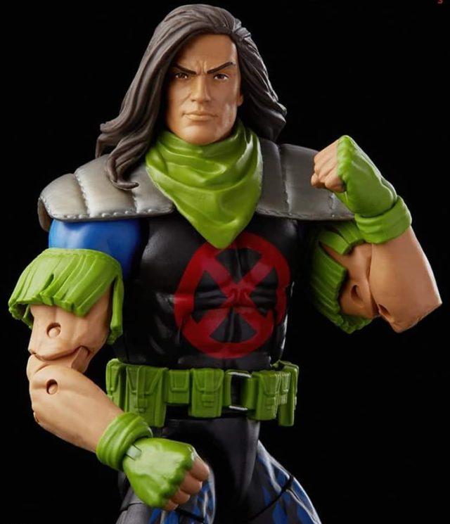 Close-up of Rictor Marvel Legends X-Force Figure 3-Pack
