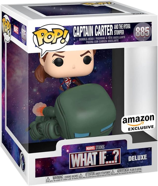 Funko POP What If Captain Peggy Carter Iron Stomper Year of the Shield Exclusive Vinyl Figure