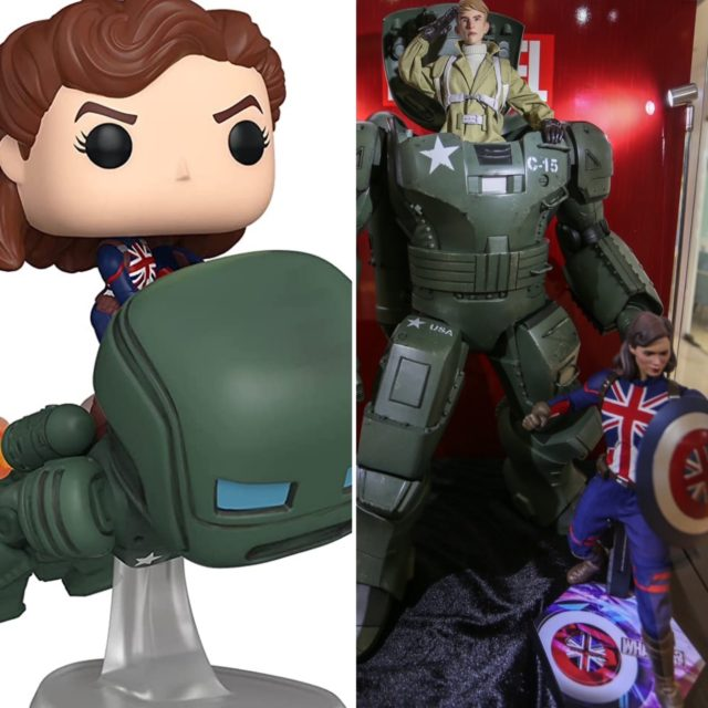 Funko POP What If Hot Toys Captain Peggy Carter Riding Hydra Stomper Figures
