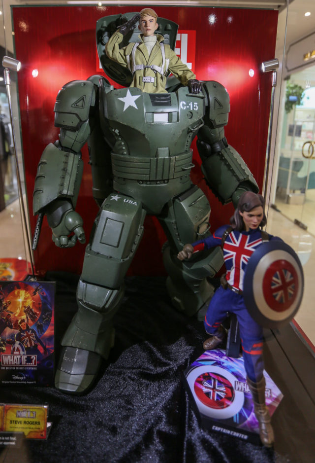 Hot Toys Hydra Stomper Armor with Steve Rogers Figure Inside 2021 Summer Showcase