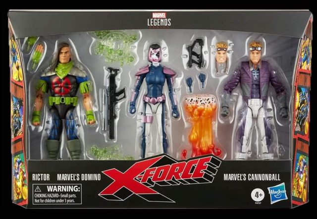 Marvel Legends 2021 X-Force 3-Pack Box Set Packaged Cannonball Domino Rictor