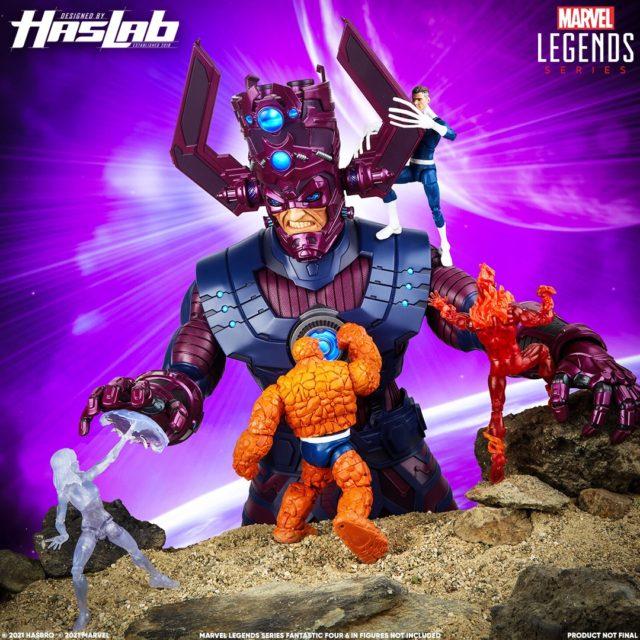 Marvel Legends Galactus HasLab Figure vs Retro Series Fantastic Four Figures