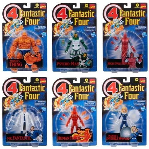 Marvel Legends Retro Fantastic 4 Figures Packaged