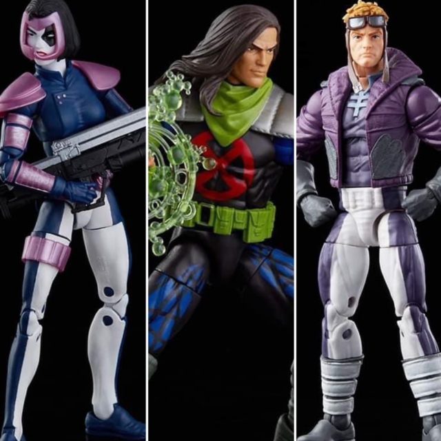 Marvel Legends X-Force 3 Pack Figures Rictor Domino Cannonball with Legs