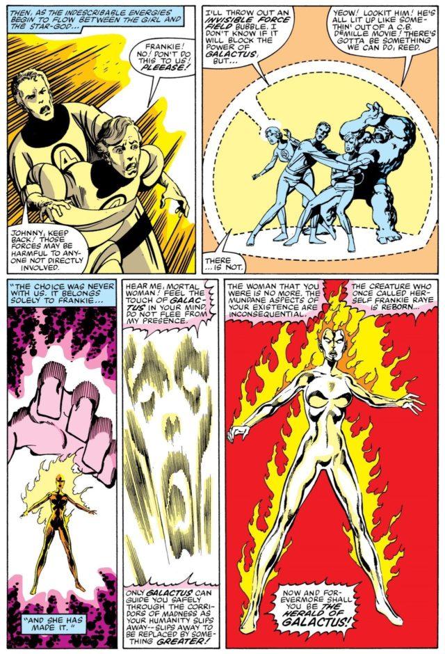 Origin of Frankie Raye Nova as Herald of Galactus Fantastic Four Comic Book Page
