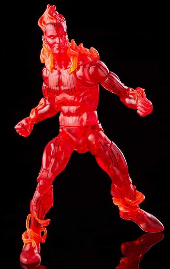 Retro Marvel Legends Fantastic Four Human Torch Hasbro 6 Inch Figure