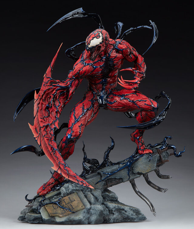 Side View of Carnage Sideshow Collectibles 2021 Statue