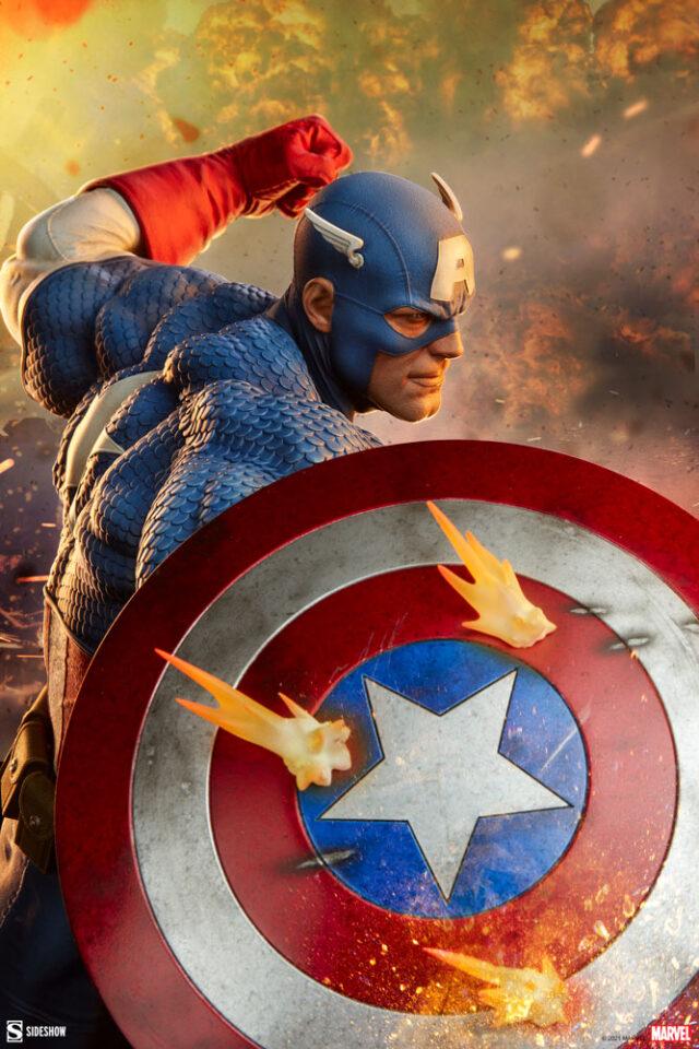 Sideshow Captain America Statue Quarter Scale 2021 Canale Sculpt