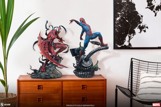 Sideshow Carnage Premium Format Figure Size Comparison with Spider-Man Statue