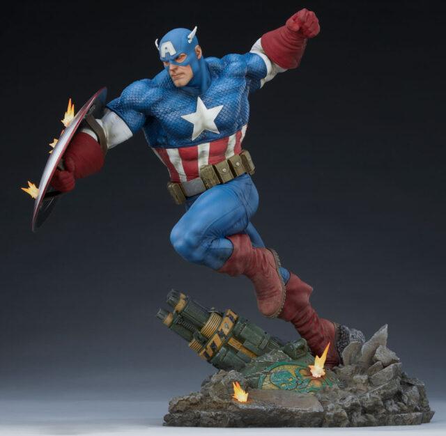 Sideshow Collectibles 2021 Captain America Statue PFF Premium Format Figure Martin Canale