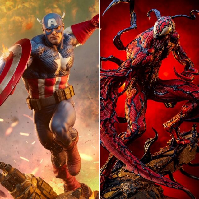 Sideshow Collectibles 2021 Carnage Captain America Statues PF PFF
